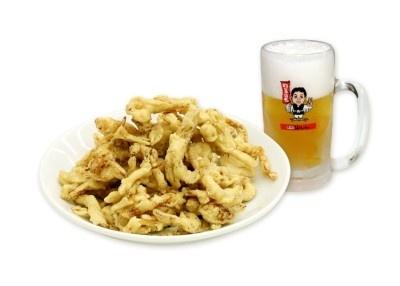 【画像を見る】ビールにもあう!手羽先風味のさきいか「天ぷらてばさきいか」