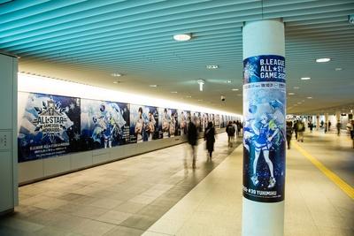 札幌駅前通地下歩行空間には、様々な選手のポスターが!