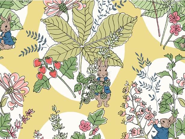 野苺や野に咲く花を大胆にあしらったホーソーン・バニーズ※全5色