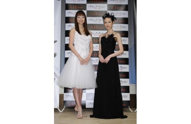 『ブラック・スワン』トークショー付き試写会にゲスト出演した上野水香、栗山千明(右)