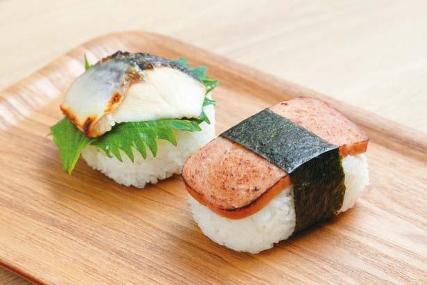 鯖しそ(230円・税込・左)、アロハボール(210円・税込・右)/boo's kitchen