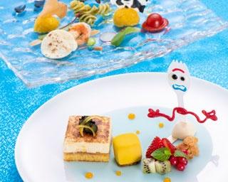 ディズニーシーの絶景と共に楽しむ『トイ・ストーリー』のコース料理