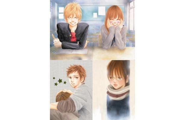 実写版『僕等がいた』で生田斗真は矢野元晴(左上)を、吉高由里子は高橋七美(右上)を演じる