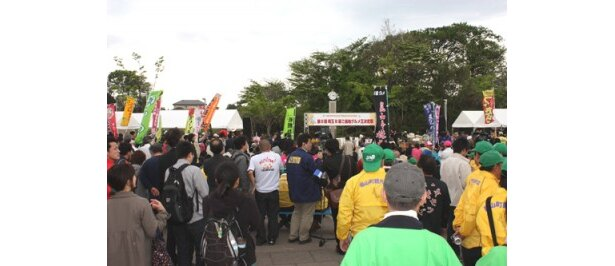 14:15からの表彰式には、多くの人が集まった