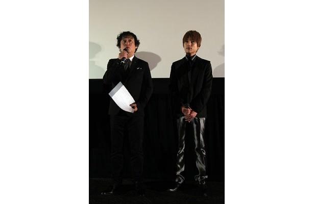 塩屋俊監督(左)と杉浦太陽が、急逝した女優・田中好子との思い出話を語ってくれた