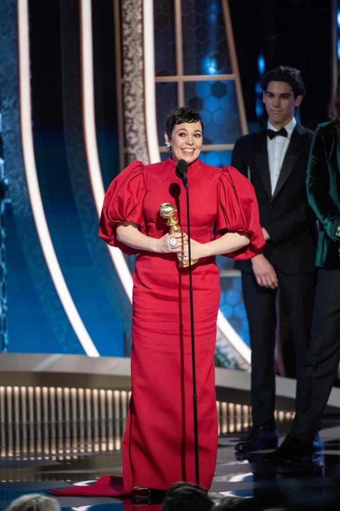 テレビドラマ部門のドラマ部門主演女優賞を「ザ・クラウン」のオリヴィア・コールマンが受賞
