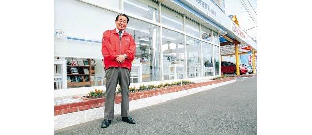 ホンダ辻堂店ひと筋約30年の政光健さん。「朝8:00から準備しています!」