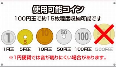 対応硬貨は1円から100円までの5種類