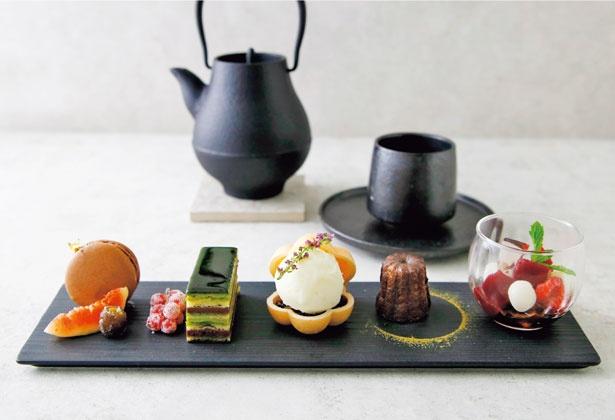 凸凹ティーセットさんく(2000円)/TOOTH TOOTH 凸凹茶房