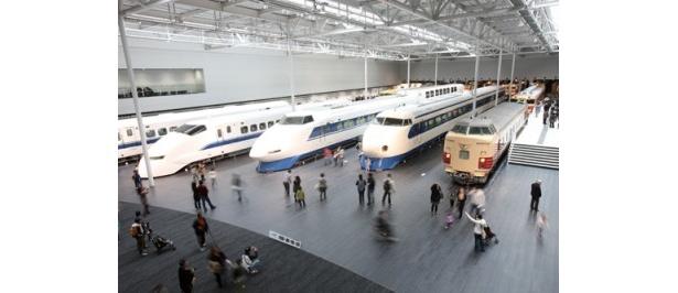 オープン当初は約60分待ちだったという大人気の新施設「リニア・鉄道館」