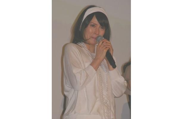 【写真】涙を流しながら東日本大震災への思いを語った中谷美紀