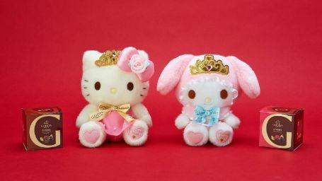 プリンセス風のキティとマイメロ!GODIVAのバレンタインギフト