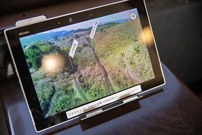 スイッチバック中の空撮映像や、観光情報を楽しめる(『新体感観光サービス』試験提供期間は2020年3月31日まで)