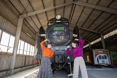 矢岳駅には、かつて肥薩線を走っていたSL「D51(デゴイチ)」が保存されている
