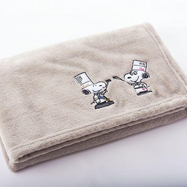 「料理長スヌーピー ブランケット(スヌーピー&ベル)」(3600円) ※縦70×横100㎝