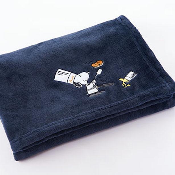 「料理長スヌーピー ブランケット(スヌーピー&ウッドストック)」(3600円) ※縦70×横100㎝