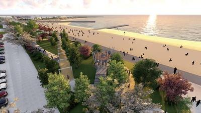 「日本の夕日百選」に選定されているビーチに隣接する/泉南りんくう公園