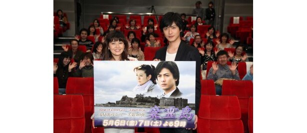 ヒロイン・篠原雅子を演じる南野陽子と浅見光彦を演じる中村俊介(写真左から)