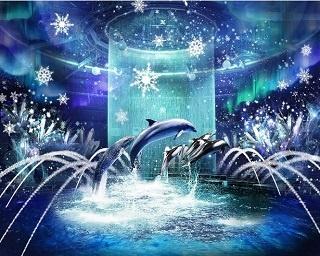 館内全体が1つの「海のスノウドーム」に!アクアパーク品川×NAKEDのコラボが今年も開催
