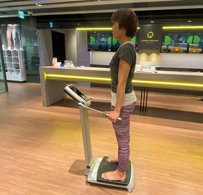 はしごビューティー / 専用の機械で体内の筋肉量や脂肪量、タンパク質量やミネラル量などを診断