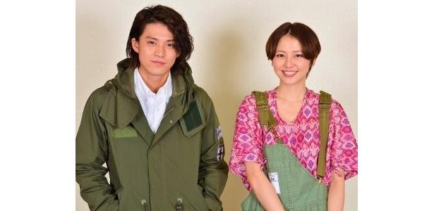 『岳 ガク』で共演した小栗旬と長澤まさみ