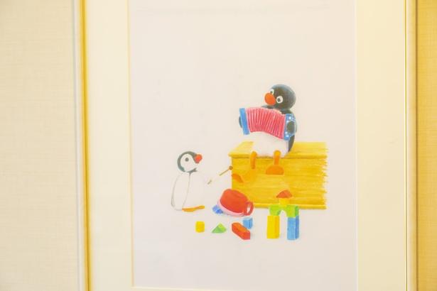 水彩画のような優しいタッチで描かれているアートも見どころのひとつ