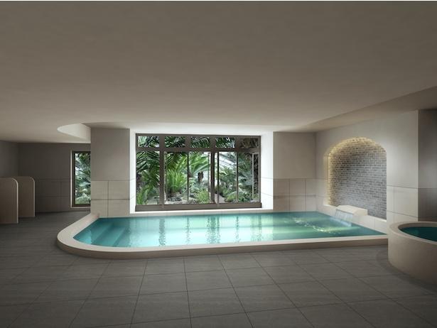 天然温泉の大浴場 / Lequ Okinawa Chatan Spa & Resort