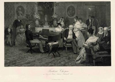 ショパン―200年の肖像 / 《ラジヴィウ公のサロンのフリデリク・ショパン、1829》1888年 NIFC