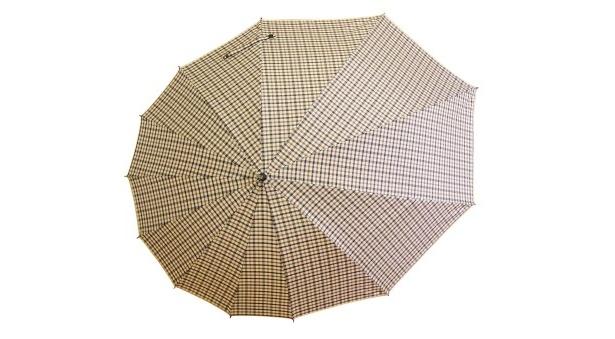 デザイン傘「雫-SHIZUKU-」(9030円) ブラウンチェック(男女兼用)