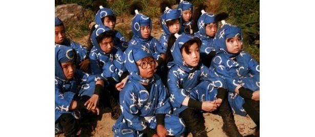 """忍者のたまご""""忍たま""""の衣装に身を包んだ子供たち"""