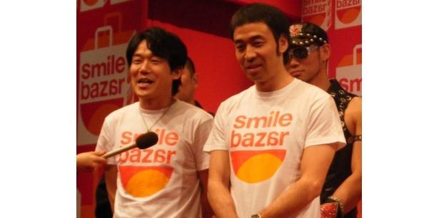 「遊☆戯☆王ゼアル」の宣伝部長がペナルティから中川家に交代となり、「頑張りました」と語るワッキー