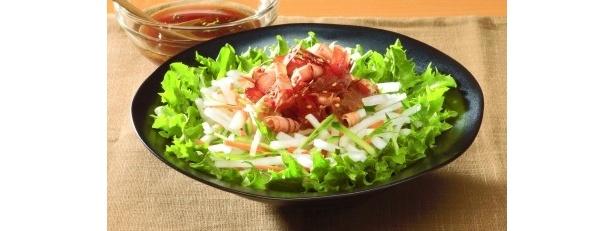 「サラダ専用バリ勝男クン」盛り付け例