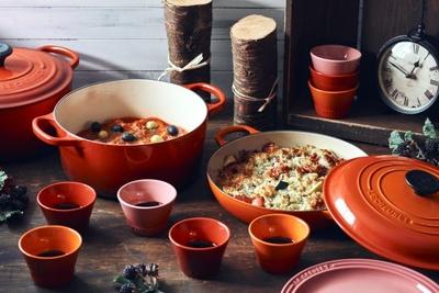 熱伝導率が良く、おいしい料理ができる「ル・クルーゼ」の鍋を使ったメニューも