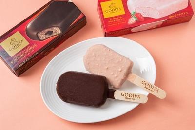 濃厚な味わいが魅力のチョコレートアイスバーは、2種の異なるフレーバーを用意