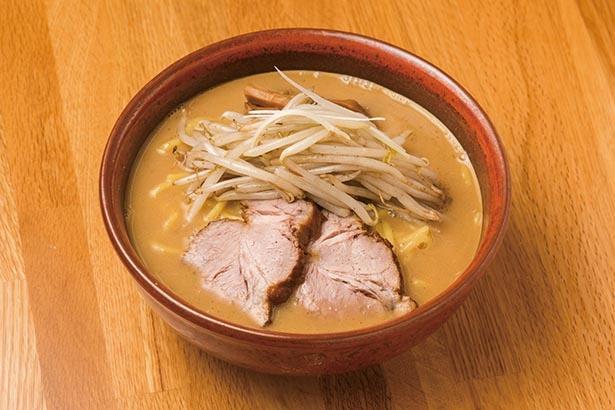 【写真】味噌にこだわったガツンと濃厚なラーメンは食べ応えもたっぷり