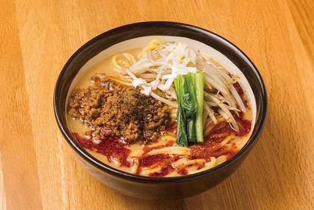 辛さは3段階、山椒はあり・なしから選べる「担々麺」