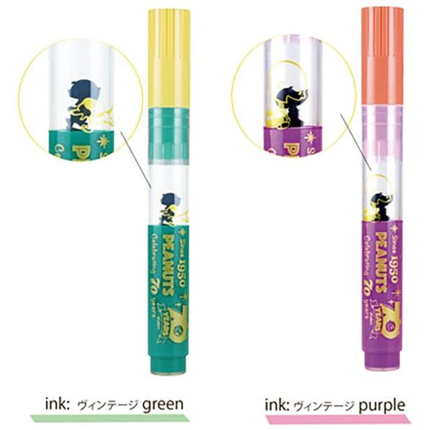 インクカラーは、ヴィンテージグリーンと、ヴィンテージパープル。どちらも珍しい色なので、ノートの仕上がりも新鮮に