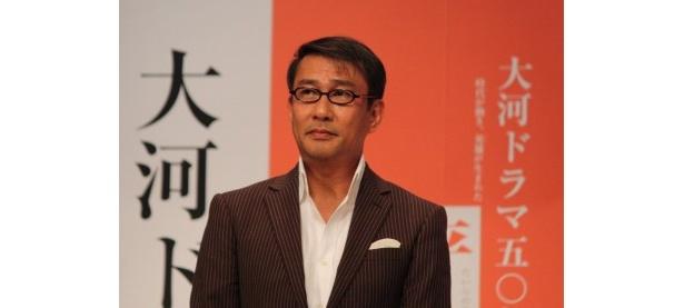 中井は「僕の父(佐田啓二)が大河第1作目の『花の生涯』に出演していました」と話す