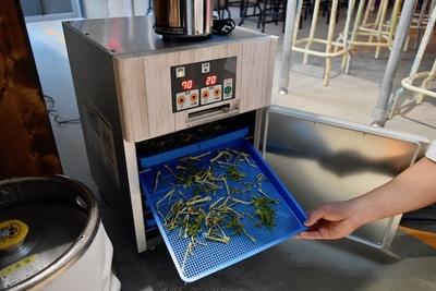 食材ロスを減らすため、野菜を乾燥させ粉末状にした「ベジコナ」を使用