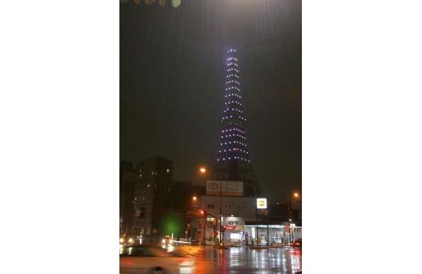 赤羽橋駅から撮影した東京タワー