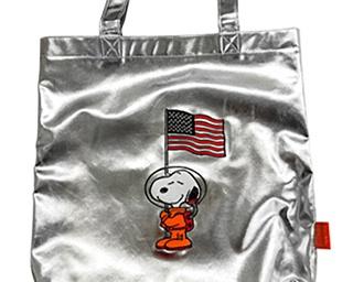 エコバッグになるスヌーピーの宇宙飛行士バッグ&ポーチ