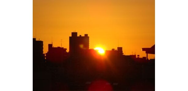 6:55 初日の出です。まぶしい!