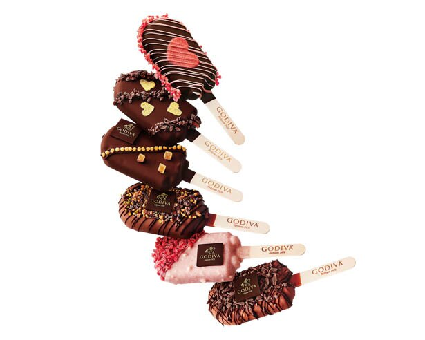 全部で6種類から選べる「ゴディバ」の バレンタイン限定「チョコレートアイスバー」(1本 590円)