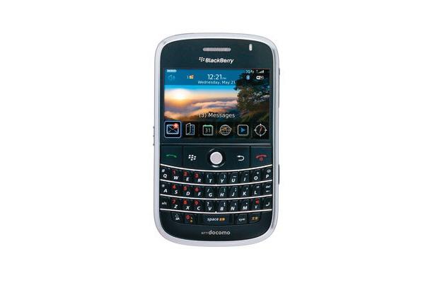 海外セレブ御用達! 写真は09年春発売予定のニューモデル・BlackBerry Bold