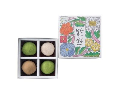 【写真を見る】博多 鈴懸本店 / ホワイトチョコに八女産茶葉を合わせ、上品な味わいに仕上げた「鈴乃トリュフ」(1301円)