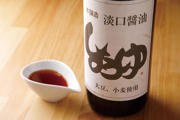 こだわりのスープに合わせるのは、天然醸造の淡口醤油のタレ / minesora
