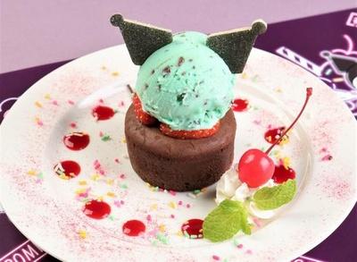 フォンダンショコラの甘みとミントアイスの爽やかさが相性抜群「クロミのチョコミントケーキ」