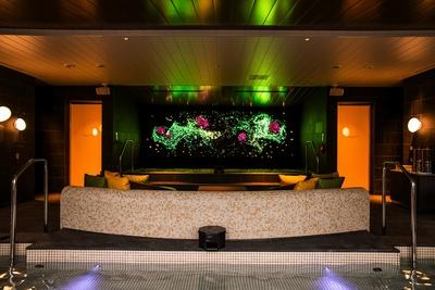 【写真】箱根の四季を表現するデジタルアートが設置された大浴場