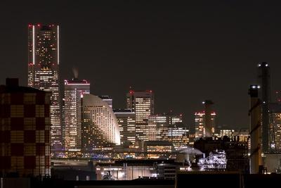 ロマンチックな横浜夜景も満喫。「夜景っていくらでも見ていられる~」と窓際から離れないママ