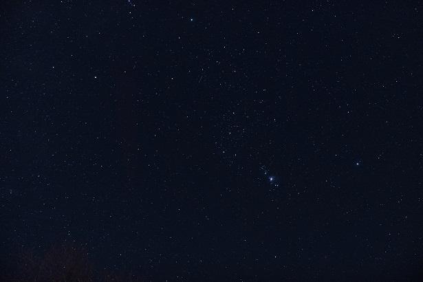 空を見上げると、視界いっぱいに満点の星空が広がる